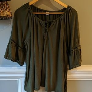 Old Navy olive green blouse